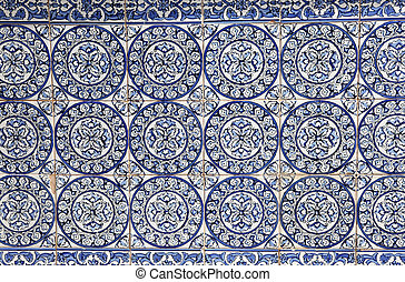 Traditional decoration on a house wall in Spain