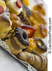 Traditional desserts - Spanish traditional desserts. Shallow...