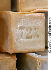 Traditional dish or laundry Marseilles hard soap - ...