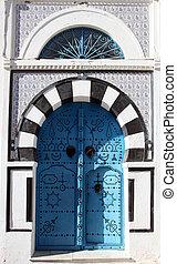 Traditional door from Sidi Bou Said, Tunisia