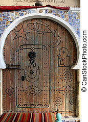 Traditional door from Sousse, Tunisia