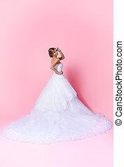 traditional dress - Full length portrait of a beautiful...