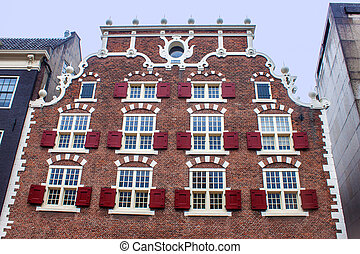 Traditional dutch building in Amsterdam