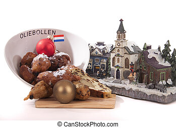 traditional Dutch oval-shaped fruited Christmas bread loaf
