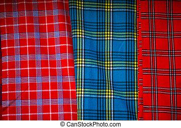 Traditional east african fabrics - Maasai tribe, Kenya