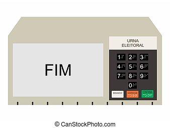 Traditional Electoral ballot box vector or fully editable ...