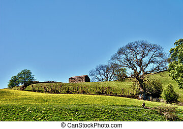 Traditional English stone barn