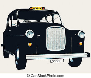Traditional english taxi / cab - A retro style english taxi ...