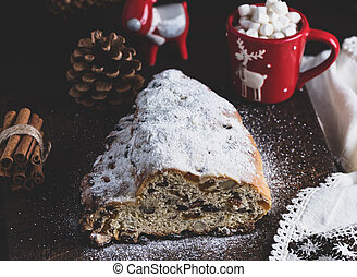 traditional European cake Stollen