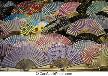 Traditional fans in Japan