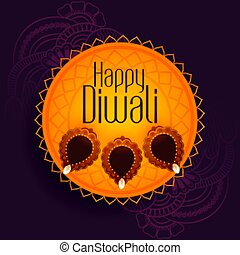 traditional festival background of happy diwali