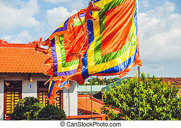 Traditional Festival flags of Vietnam Five Elements Flag