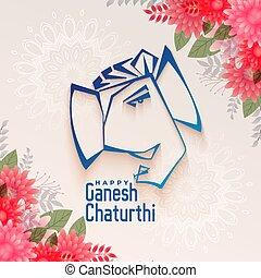 traditional festival of ganesh chaturthi background design