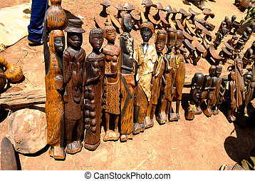 Traditional figurine at handicrafts local market Kei Afer...