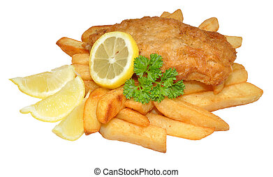 Traditional Fish And Chips - A portion of fish and chips ...