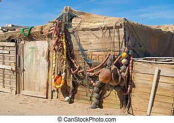 Traditional fishing tackle