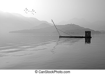 Traditional fishing tools in Sun Moon Lake, Nantou, Taiwan