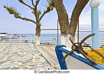 Traditional fishing village at Rhodes in Greece