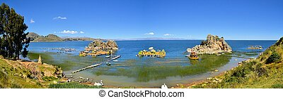 Traditional Floating Island in Lake Titicaca