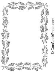 Traditional floral gray border.