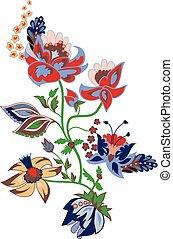 Traditional flower illustration