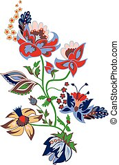 Traditional flower illustration