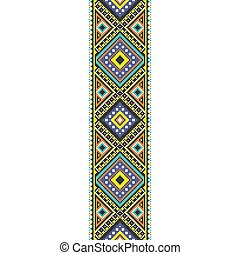 traditional folk art knitted embroidery seamless pattern.
