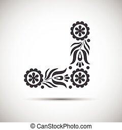 Traditional folk patterns, vector illustration of simple folk symbol