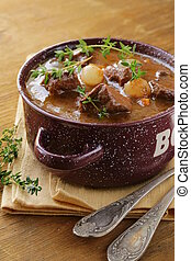 beef goulash - Boeuf bourguignon - Traditional french beef ...