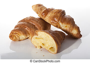 Traditional french croissants
