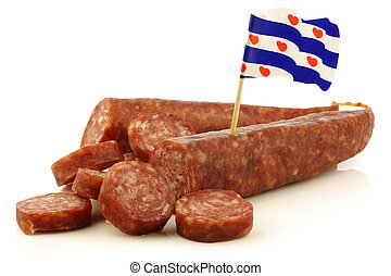 traditional frisian dried sausage