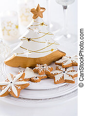Traditional Gingerbread cookies for Christmas