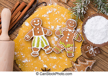 Traditional gingerbread dough