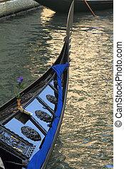 Traditional gondola in Venice, Italy