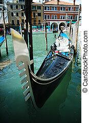 Traditional gondola in Venice