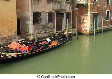 Traditional gondolas in Venice, Italy