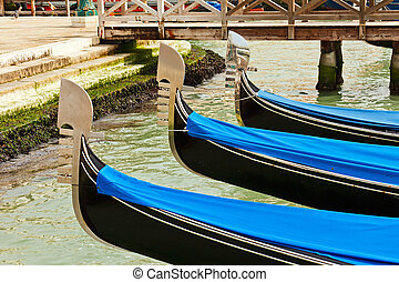 Traditional gondolas in Venice