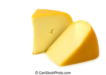 traditional Gouda cheese pieces - traditional Gouda cheese...