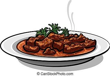 traditional goulash dish
