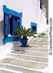 Traditional greek alley street