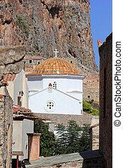 monemvasia greece - traditional greek church in monemvasia ...