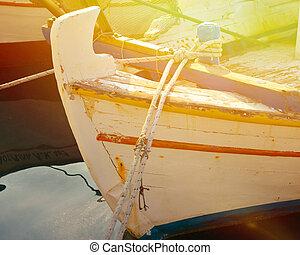 Traditional Greek fishing boat