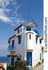 Traditional Greek house located at Koroni village