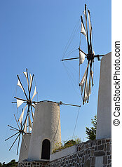 Traditional Greek windmils.