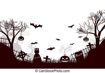 Traditional Halloween Night Background Poster