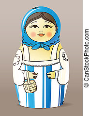 varnished wood doll. Matrioska