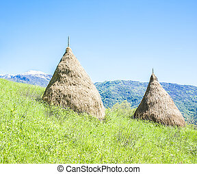 Traditional haystack of mountain villages.