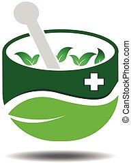 Traditional Herbal Icon Template - Vector Design of...