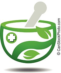 Traditional Herbal Logo Template - Vector Design of...