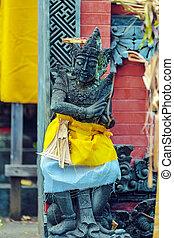 Traditional Hindu Demon Statues, Bali